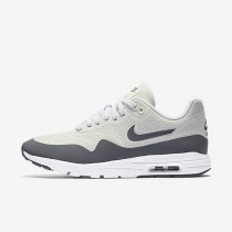 Nike Air Max 1 Ultra Moire Summit White/Metallic Silver/White/Cool Grey Womens Shoes