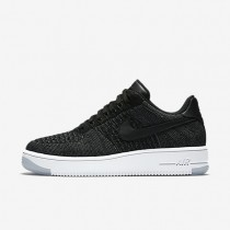 Nike Air Force 1 Flyknit Low Black/White/Black Womens Shoes