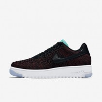 Nike Air Force 1 Flyknit Low Black/Team Red/Clear Jade/Black Womens Shoes