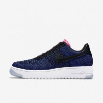 Nike Air Force 1 Flyknit Low Black/Deep Royal Blue/Digital Pink/Black Womens Shoes