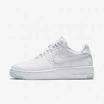 Nike Air Force 1 Flyknit Low White/White Womens Shoes