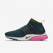 Nike Air Presto Ultra Flyknit Midnight Turquoise/Pink Blast/Summit White Womens Shoes