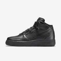 Nike Air Force 1 Mid 07 Leather Black/Black Womens Shoes