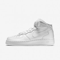 Nike Air Force 1 Mid 07 Leather White/White Womens Shoes