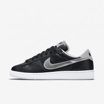 Nike Court Classic Black/Metallic Silver Womens Shoes