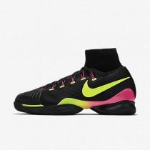 Nike Court Air Zoom Ultrafly Black/Pink Blast/Volt unisex Tennis Shoes