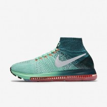 Nike Air Zoom All Out Flyknit Green Glow/Midnight Turquoise/Bright Mango/White Womens Running Shoes