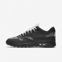 Nike Air Max 1 Ultra Flyknit Black/White/Metallic Silver/Anthracite Womens Shoes
