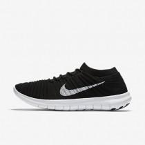 Nike Free RN Motion Flyknit Black/White Womens Running Shoes