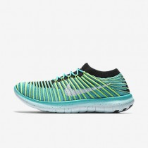 Nike Free RN Motion Flyknit Clear Jade/Black/Volt/White Womens Running Shoes