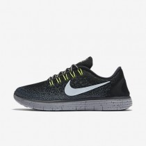 Nike Free RN Distance Shield Black/Dark Grey/Stealth/Metallic Silver Womens Running Shoes