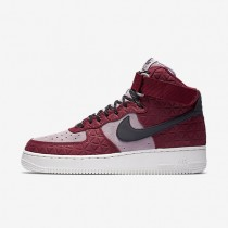 Nike Air Force 1 Hi Premium Suede Noble Red/Plum Fog/Summit White/Black Womens Shoes