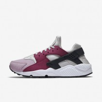 Nike Air Huarache Premium Light Bone/Noble Red/Plum Fog-Black Womens Shoes