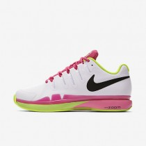 Nike Court Zoom Vapor 9.5 Tour Clay White/Volt/Pink Blast/Black Womens Tennis Shoes