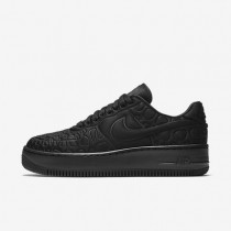 Nike Air Force 1 Upstep SE Black/White/Black Womens Shoes