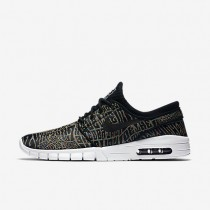 Nike SB Stefan Janoski Max Premium 'Tripper' Black/White/Multi-Colour/Black Mens Skateboarding Shoes