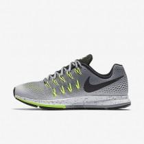 Nike Air Zoom Pegasus 33 Shield Cool Grey/Wolf Grey/Volt/Black Womens Running Shoes