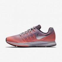 Nike Air Zoom Pegasus 33 Shield Plum Fog/Bright Mango/Purple Shade/Metallic Silver Womens Running Shoes