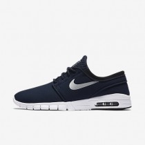 Nike SB Stefan Janoski Max Obsidian/White/Black/Metallic Silver Mens Skateboarding Shoes