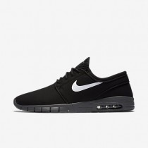 Nike SB Stefan Janoski Max Black/Dark Grey/White/White Mens Skateboarding Shoes