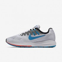 Nike Air Zoom Structure 20 (Anniversary) White/Black/Hot Lava/Blue Lagoon Womens Running Shoes