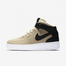 Nike Air Force 1 07 Mid Leather Premium Cool Grey/Vachetta Tan/White/Cool Grey Womens Shoes