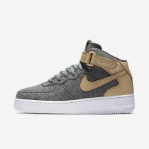 Nike Air Force 1 07 Mid Leather Premium Oatmeal/Oatmeal/Black/Oatmeal Womens Shoes