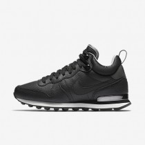Nike Internationalist Mid Leather Black/Deep Pewter/Dust/Black Womens Shoes