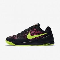 Nike Court Zoom Cage 2 Black/Pink Blast/Volt Womens Tennis Shoes