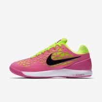 Nike Court Zoom Cage 2 Pink Blast/Volt/White/Black Womens Tennis Shoes
