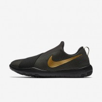 Nike Free Connect Amp Black/White/Metallic Gold Womens Training Shoes