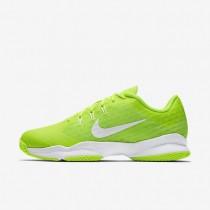 Nike Court Air Zoom Ultra Clay Volt/White Womens Tennis Shoes