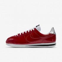 Nike Cortez Basic Premium QS Gym Red/White/Metallic Silver/Gym Red Mens Shoes