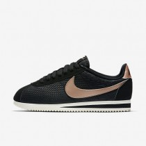 Nike Classic Cortez Leather Lux Black/Sail/Metallic Red Bronze Womens Shoes