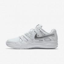 Nike Court Air Vapor Advantage Carpet White/Silver Womens Tennis Shoes