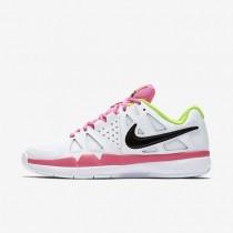 Nike Court Air Vapor Advantage Carpet White/Volt/Pink Blast/Black Womens Tennis Shoes