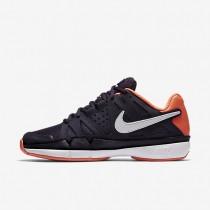 Nike Court Air Vapor Advantage Purple Dynasty/Bright Mango/White Womens Tennis Shoes
