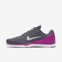 Nike In-Season TR 6 Dark Grey/Fire Pink/Cool Grey/Metallic Platinum Womens Training Shoes