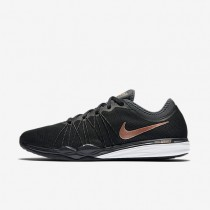 Nike Dual Fusion TR HIT Black/Anthracite/White/Metallic Red Bronze Womens Training Shoes