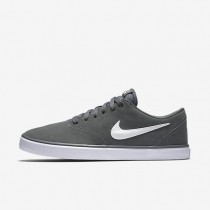 Nike SB Check Solarsoft Cool Grey/White Mens Skateboarding Shoes