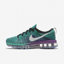 Nike Flyknit Air Max Black/Clear Jade/Hyper Violet/White Womens Running Shoes