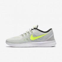 Nike Free RN Pure Platinum/Black/Wolf Grey/Volt Womens Running Shoes