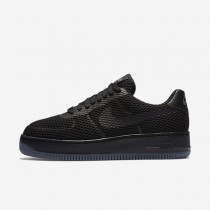 Nike Air Force 1 Low Upstep BR Black/Cool Grey/Black Womens Shoes