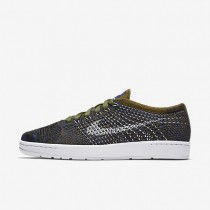 Nike Court Tennis Classic Ultra Flyknit Olive/Deep Royal Blue/Black/White Womens Shoes