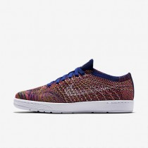 Nike Court Tennis Classic Ultra Flyknit Deep Royal Blue/Pink Blast/Gold Leaf/White Womens Shoes