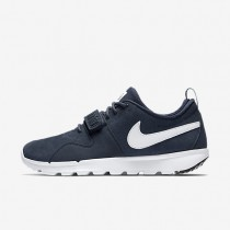 Nike SB Trainerendor Leather Obsidian/White Mens Shoes