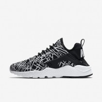 Nike Huarache Ultra Jacquard Black/White Womens Shoes