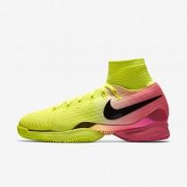 Nike Court Air Zoom Ultrafly Volt/Hyper Pink/White/Black unisex Tennis Shoes