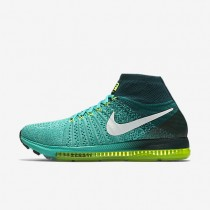 Nike Air Zoom All Out Flyknit Clear Jade/Midnight Turquoise/Volt/White Womens Running Shoes