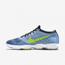 Nike Flyknit Zoom Agility Blue Glow/Volt/Navy Womens Training Shoes
